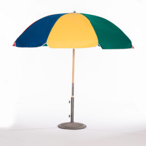 Red-blue,-yellow-green-Umbrella