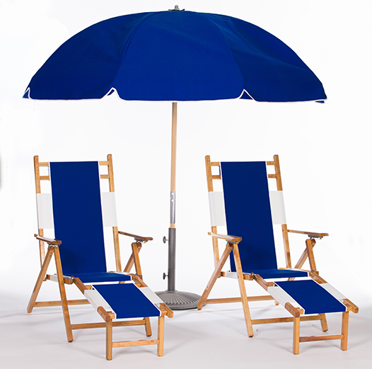 Solid Color Beach Umbrella Set Natural