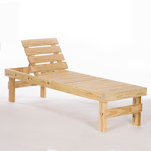 Chaise Wooden Lounge Single No Cushion