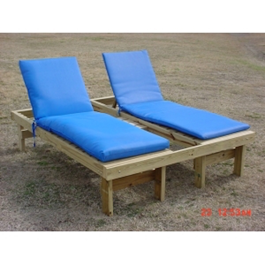 Chaise Wooden Lounge Double W Cushion Lack S